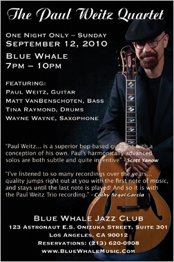 Paul Weitz Trio CD Release at the Blue Whale